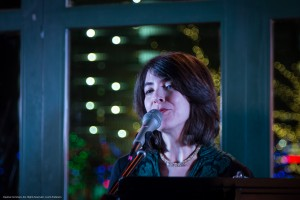Monika Jalili photo singing 12-4-14 Blue Haiku
